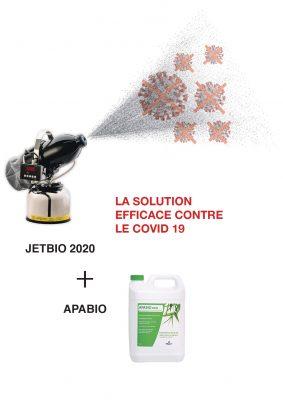 ConceptClim - JetBio appareil de désinfection des surfaces et Apabio désinfectant bio contre la Covid-19